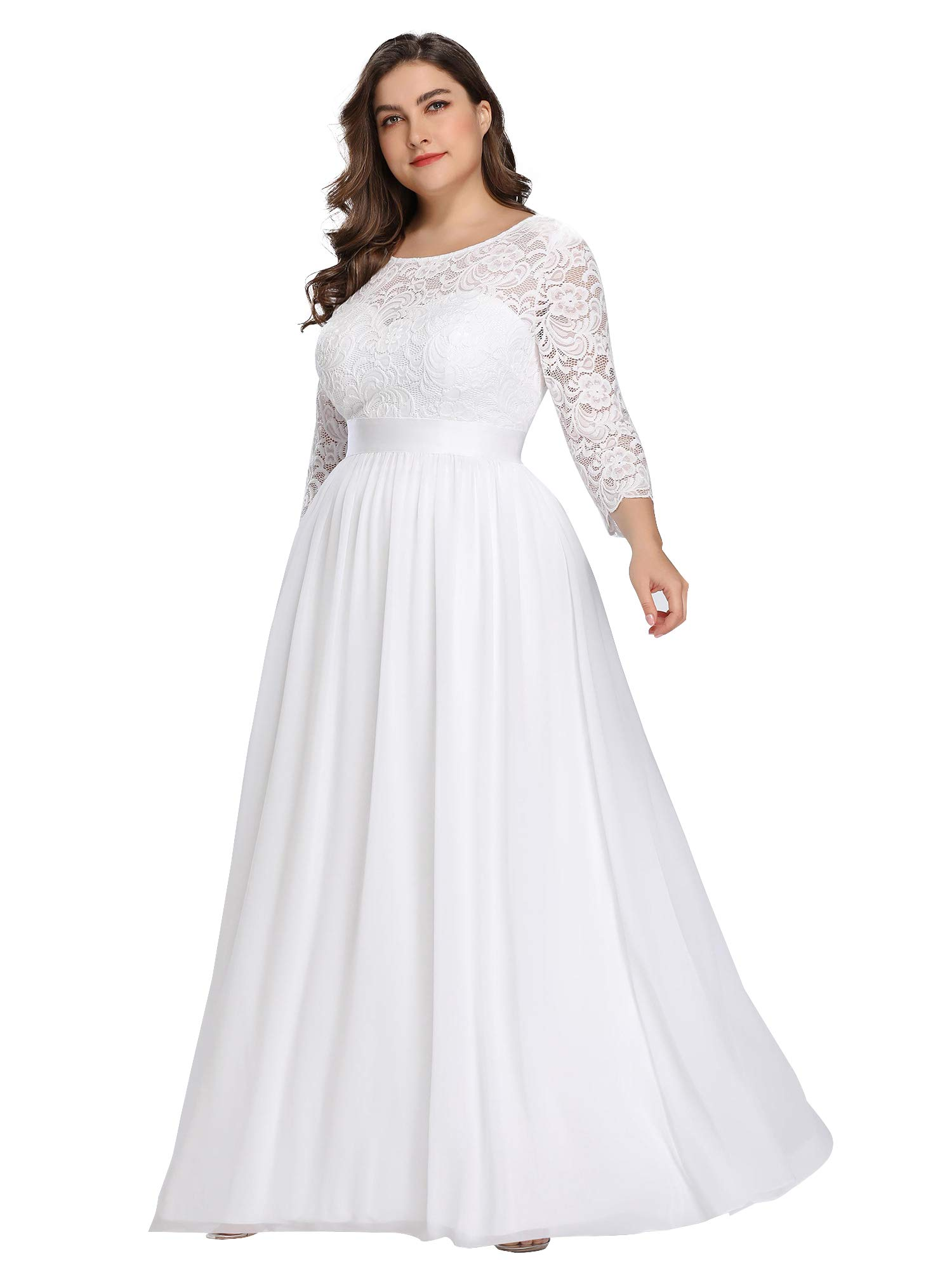 Alisapan Womens Formal Evening Dress Plus Size Special Occasion Dresses for  Women White US 22