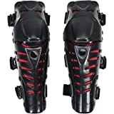 Crazy Al 's CAKオートバイモトクロスレーシング膝ガードパッド保護ブレース保護ブラック