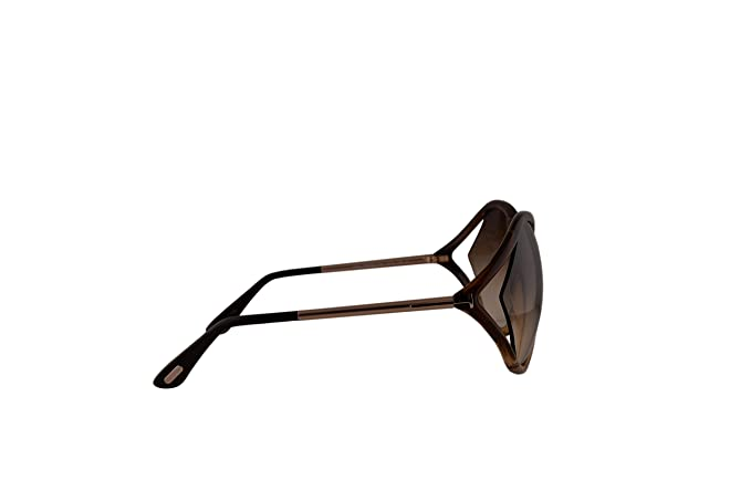 5ff7085d5df79 Amazon.com  Tom Ford FT0528 Liora Sunglasses Brown w Brown Gradient Lens  50F TF528 FT528 FT 528 TF 528  Clothing