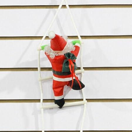Navidad de Papá Noel, adv-one escalada Sisha Papá Noel con Papa escalera para Navidad Fiesta Celebración: Amazon.es: Hogar