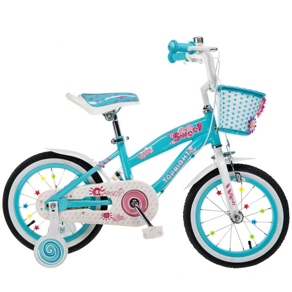YANGFEI 子ども用自転車 少年少女のためのキッドバイクバイク、12インチ、16インチ、95%組み立て、子供用ギフト 212歳 B07DWR5BX9 18 inch|青 青 18 inch