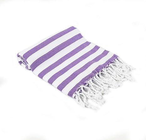 "Turkish Towel Scarf Blanket for Bath Beach Yoga Pool Hammam Large 39/""x70/"" Purple"