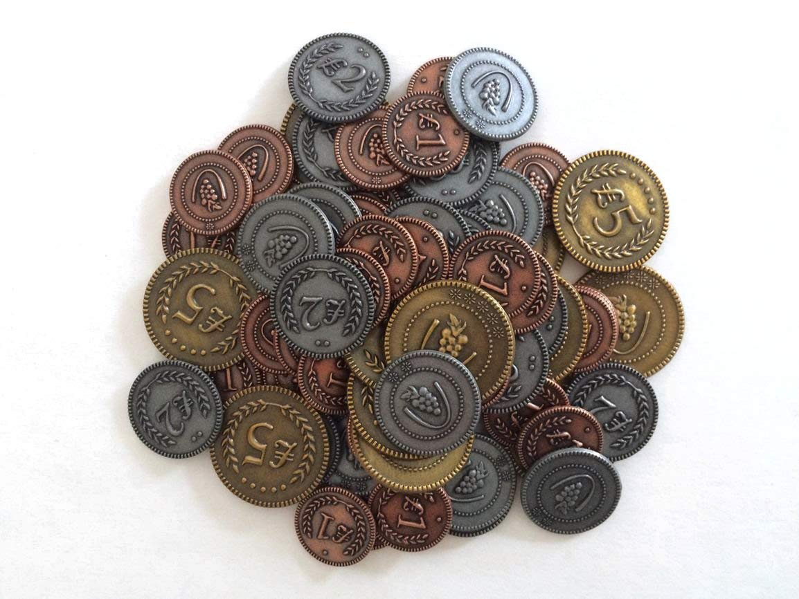 Viticulture Metal Coins by Stonemaier Games