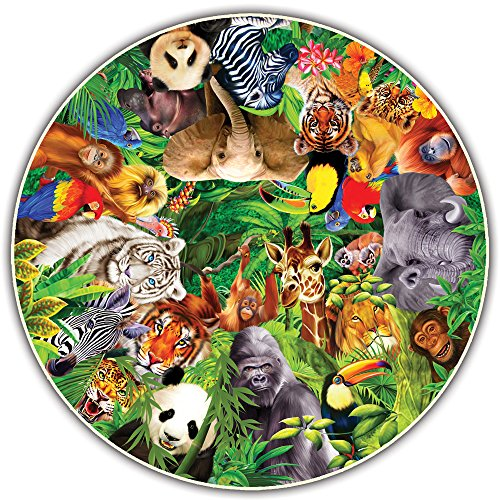 Wild Animal Puzzle - Round Table Puzzle - Wild Animals (500 Piece)
