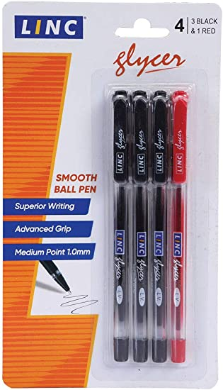 Black or Blue Soft-Grip Retractable Ball Point Biro Pens Medium 0.7mm Tip