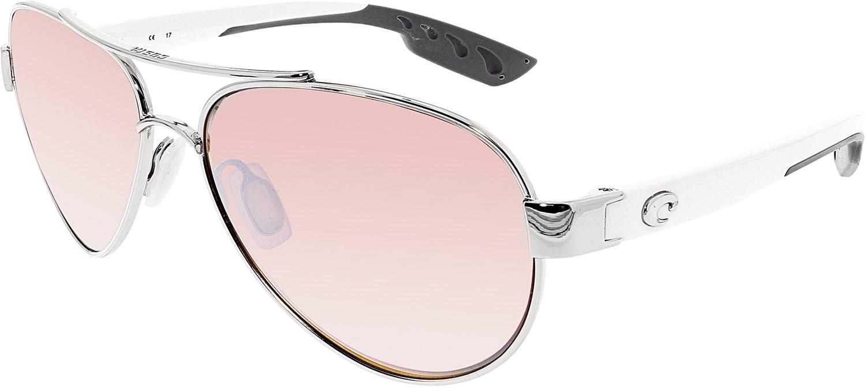 Costa Del Mar Loreto Sunglasses, Palladium, Silver Mirror 580P Lens