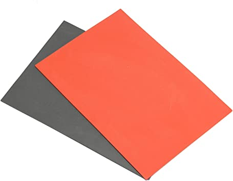 2PCS Orange Laser Rubber Sheet A4 2.3mm for Rubber Stamp Printing Engraving