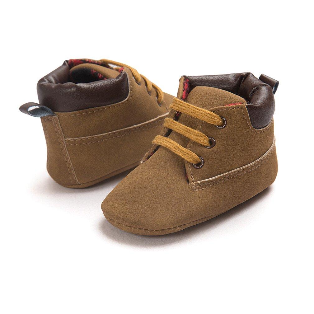 Kfnire Zapatos de Beb/é Zapatos de Cuero de Suela Suave del Beb/é Zapatillas de Moda 0-18 Meses