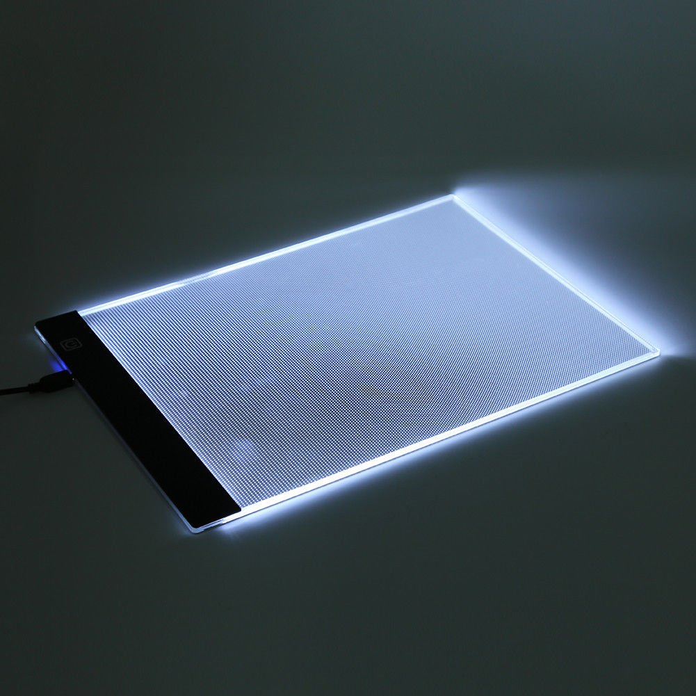 A4 LED Light Box Drawing Board - BESTGIFT Tracing Board USB Power Ultra-Thin Digital Tablet Brightness Adjustable Pad Copy Table for Artist by BESTT (Image #2)