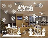Christmas Windows Stickers Removable Vinyl DIY Wall /Glass Stickers, Door Mural Decal Sticker for Showcase (C)