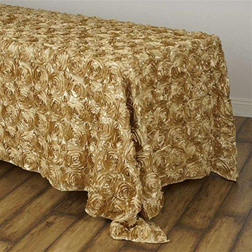Champagne Grandiose Rosette Tablecloth