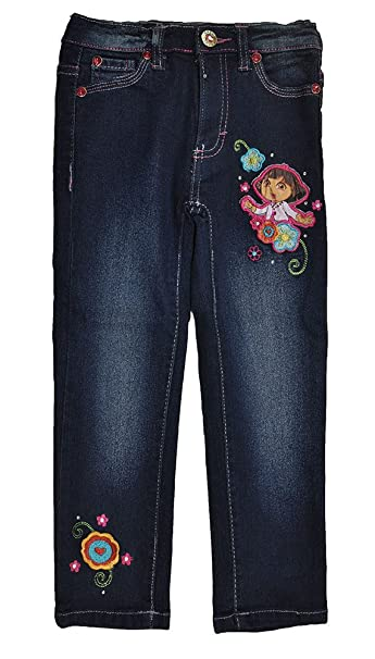 Amazon.com: Dora the Expolorer Little Girls Denim Blue Dora ...