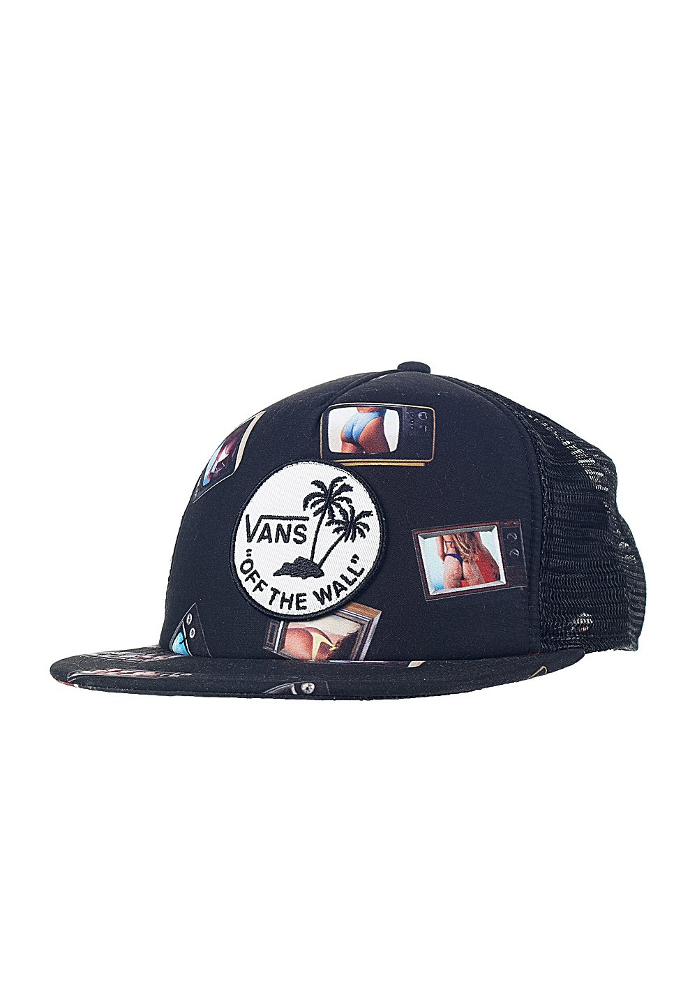 8e5aeb2904584 Amazon.com  Vans Surf Patch Trucker (Hank Bank) Hat  Sports   Outdoors