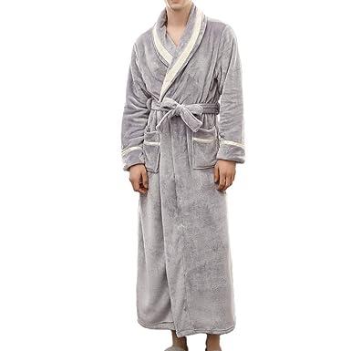 21941fa00330c3 ZYUEER Peignoir à Capuche de Polyester- Très Doux - pour Homme et Femme -  pour Sauna