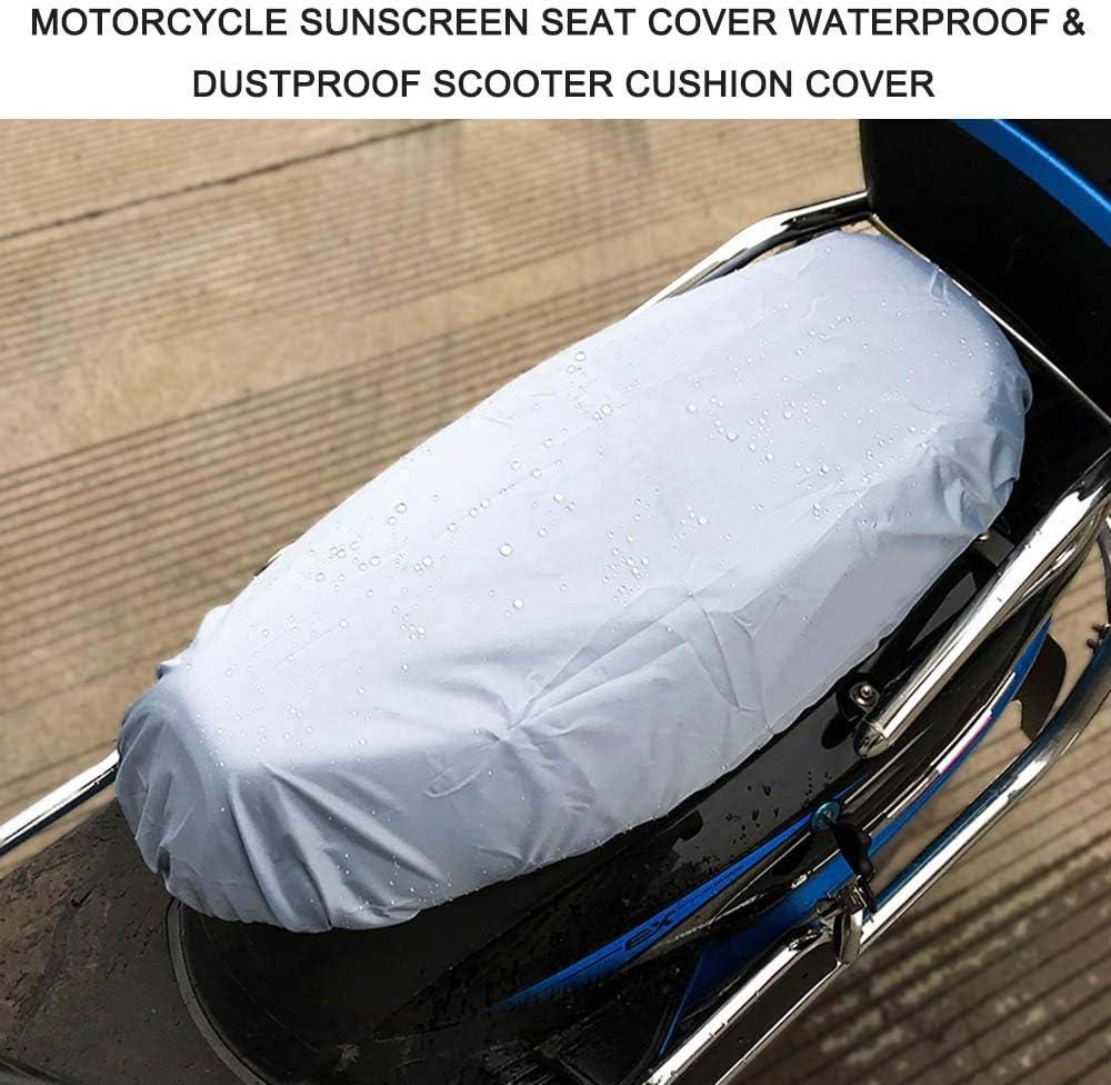 KKmoon Motorrad Kissen Universal Sonnenschutz Sitzbezug Kappe Wasserdicht Staubdicht Roller Kissenbezug Sitz Silber XL