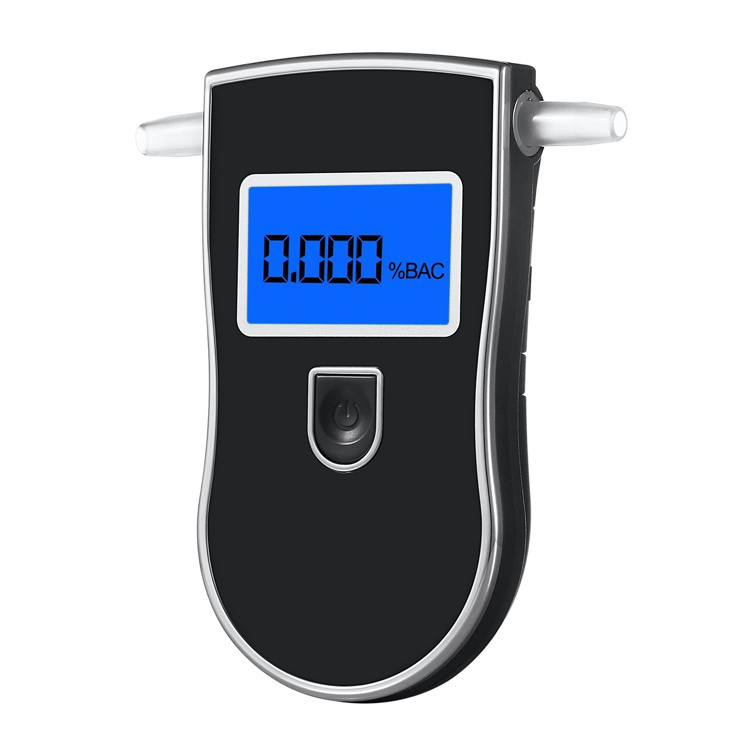 GDbow Alcohol Tester Portable Breathalyzer LCD Display Digital Breath Alcohol Tester with 5 Mouthpieces