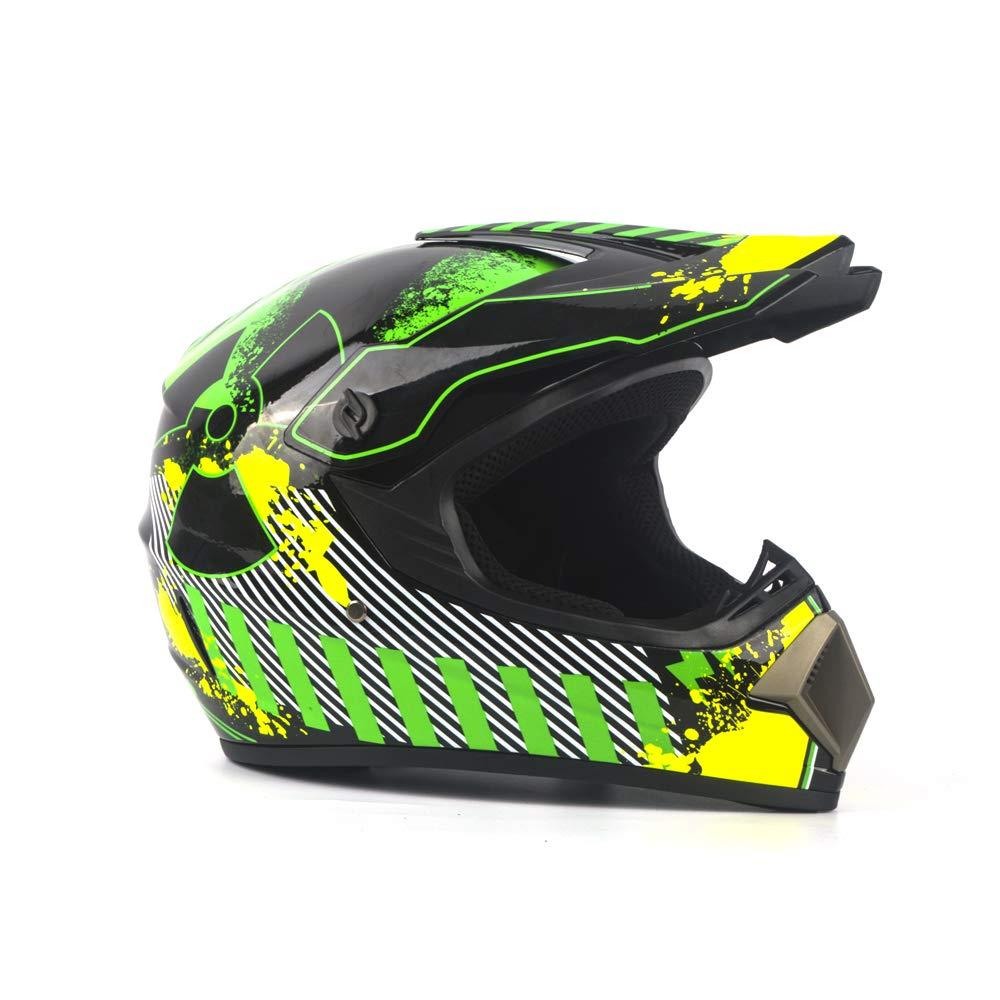 Guanti Maschera Occhiali MOTUO Casco da Moto per Bambini Casco da Enduro Casco Trasversale per Quad ATV BMX ATV compresi caschi