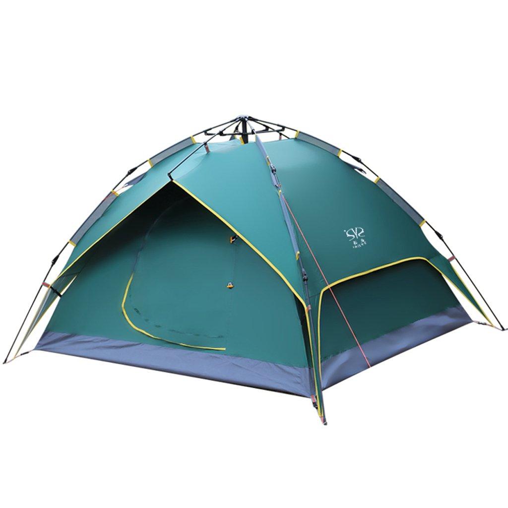 シュウクラブ@ テント屋外ダブルレイヤーキャンプ防水3-4人キャンプ自動テント210 * 215 * 135センチメートル (色 : 緑)  緑 B07F28V6HN