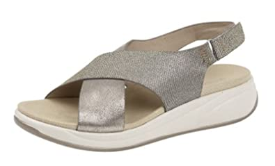 8aa7558c1e78 Cipriata Womens Ladies Leather Look Crossover Strap Slingback Sandals Size  3 4 5 6 7 8  Amazon.co.uk  Shoes   Bags