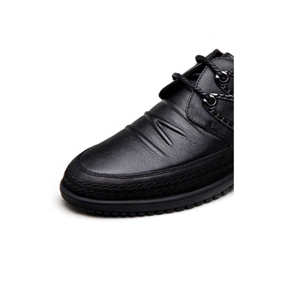 Geschäft Freizeit Männer Lederschuhe Jeden Tag Britische Weicher Schuhe Atmungsaktiv Schnürschuhe Trend Weicher Britische Boden schwarz 7e7b49