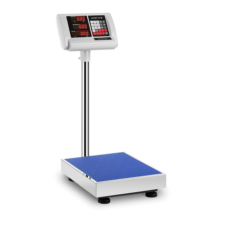 Steinberg Balance Plateforme Professionnelle Industrielle Pè se-Colis SBS-PF-150/10A (150 kg, Pré cision ± 10 g, Autonomie 10 H, 60x45 Cm, LED) Précision ±10 g Steinberg Systems