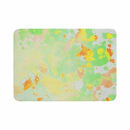 17 x 24 Kess InHouse Snap Studio Cheery Pattern Green Mint Memory Foam Bath Mat
