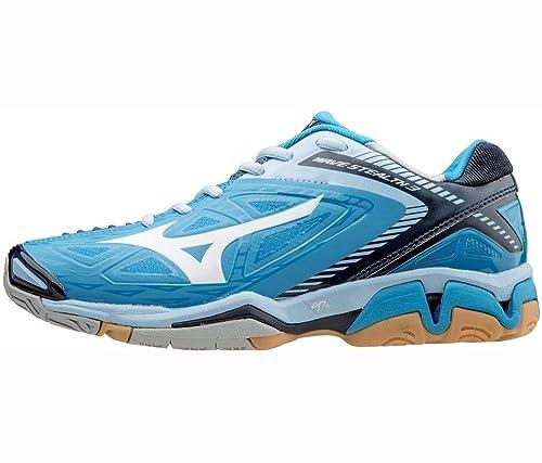 Mizunowave Stealth 3 - Zapatillas de Balonmano Mujer, Color Azul, Talla 37
