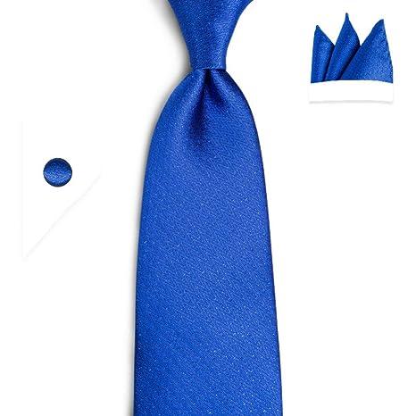 KYDCB Conjunto de Corbata Azul para Hombre con Mancuernas de ...