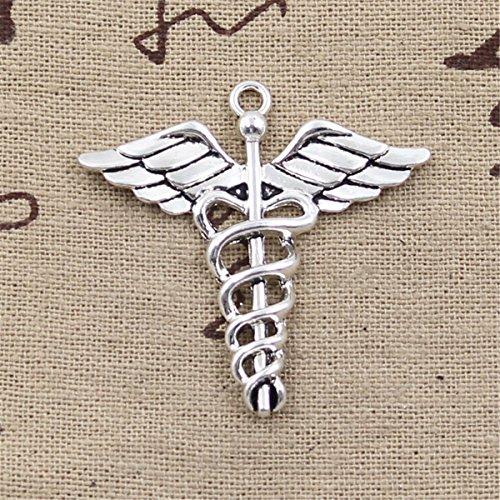 10pcs Charms Caduceus Medical Symbol md 40x40mm Antique Making Vintage Tibetan Silver Zinc Alloy Pendant