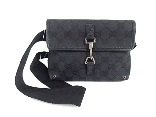 lowest price 10c39 9fc7a Amazon.co.jp: (グッチ) GUCCI ウエストポーチ GG柄 黒 92543 ...
