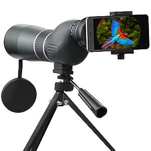 Telescopio Monocular, SGODDE 15- 45 x 60 Zoom impermeable monocular...
