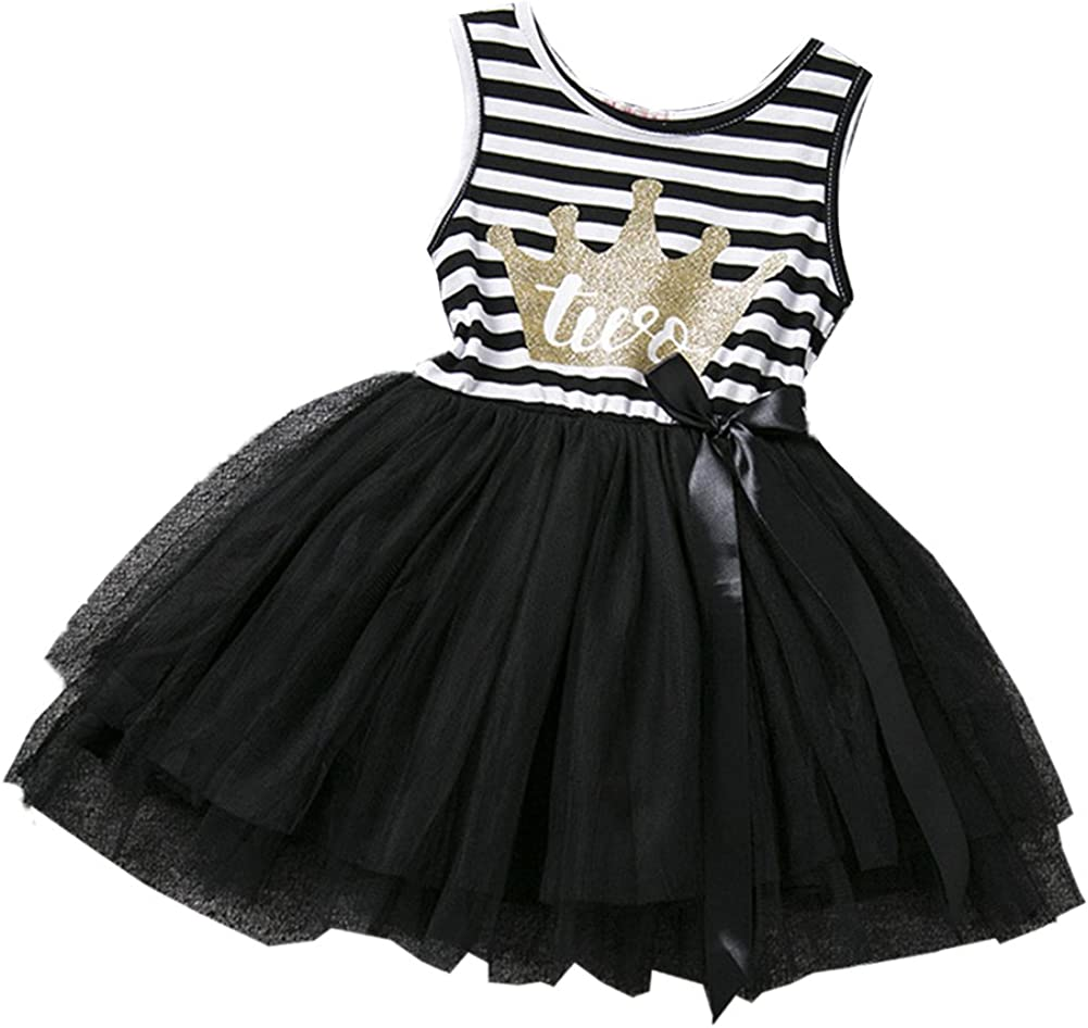 Children Kids Baby Girls Princess Dresses Tulle Tutu Dress Birthday Party Outfit