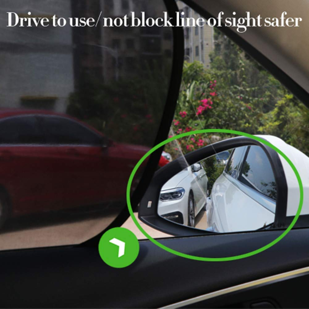 Cling Sunshade for Car Windows - Fullive Car Window Shade Side Window Sunshades Blocks Glare and UV Rays 20 x 12 Sun Protector for Baby Kids and Pets 4 Pack