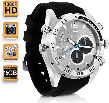 Opinión sobre 1080P HD Cámara Secreta Reloj Espía Vídeo Grabadora Apoyo Toma de Fotos y Grabación de Voz, Memoria Incorporada de 16GB