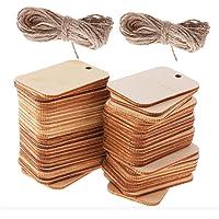 SIMUER - 100 etiquetas de madera decorativas