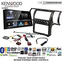 Volunteer Audio Kenwood DDX9904S Double Din Radio Install Kit with Apple CarPlay Android Auto Bluetooth Fits 2003-2004 Infiniti G35 (Charcoal) (Dual zone A/C controls)