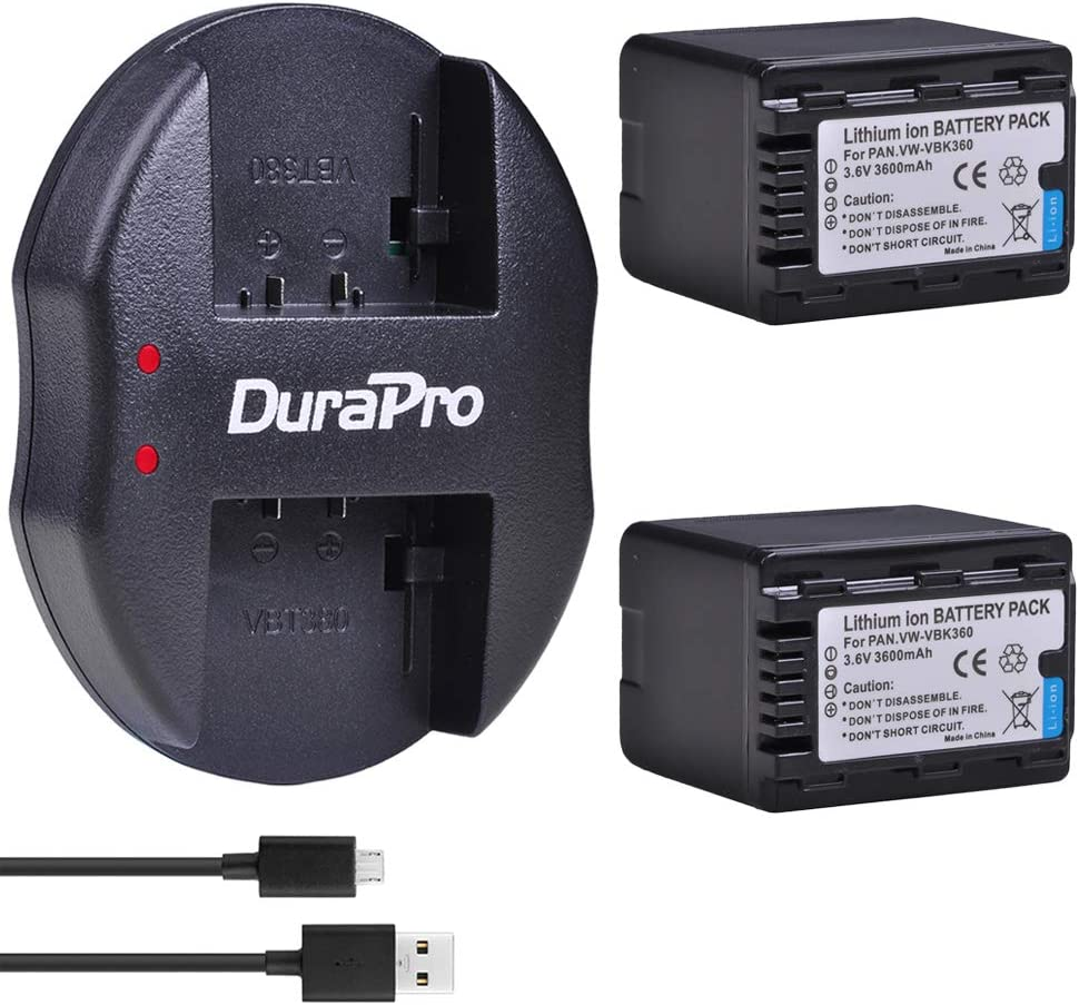 HDC-SD90K Full HD Camcorder HDC-SD80K USB Dual Battery Charger for Panasonic HDC-SD40K HDC-SD60K