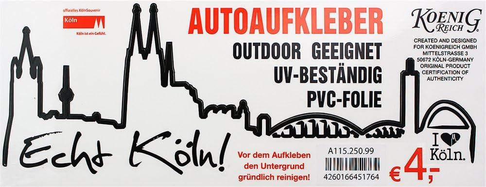 Autoaufkleber Köln Skyline Schwarz 20 X 7 5 Cm Auto