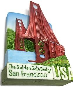 Golden Gate Bridge USA SOUVENIR RESIN 3D FRIDGE MAGNET SOUVENIR TOURIST GIFT 062 by Mr_air_thai_Magnet_World