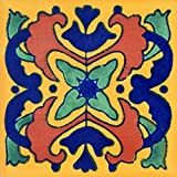 Talavera Mexican Hand Painted Tiles Box of 100