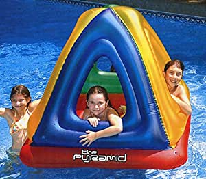"""52"""" Water Sports Inflatable Pyramid Habitat Raft for Swimming Pool or on Land"""