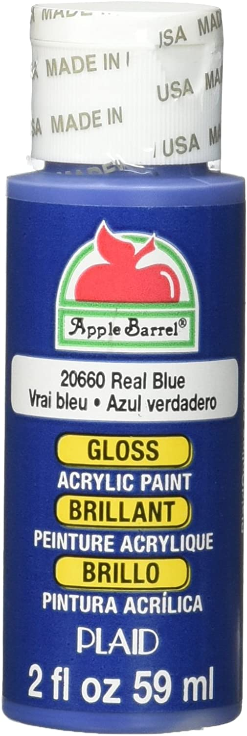 Apple Barrel Gloss Acrylic Paint in Assorted Colors (2-Ounce), 20660 Real Blue