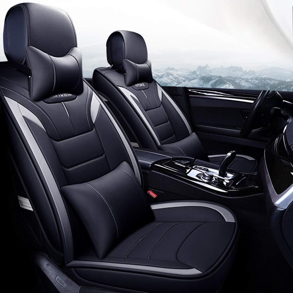 チャイルドシートカバーユニバーサルセットサイドエアバッグ対応、5人乗り車用フェイクレザーモーションフルセットフォーシーズンズパッド、エアバッグクッション対応(カラー:グレー)  Gray B07T3JQFVC