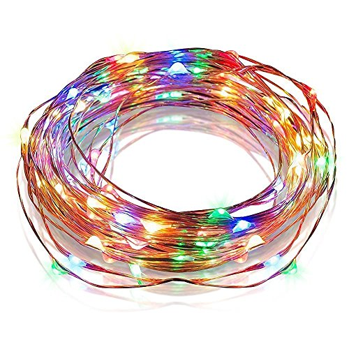 E-feel Starry String Light, USB Powered Copper Wire Lights for Outdoor,Indoor,Gardens, Homes, Patio, Xmas Party(100 LEDs, 33 ft, Multi-colour)