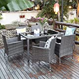 7 Piece Patio Wicker Dining Set Wisteria Lane Outdoor Dining Set Deal (Small Image)