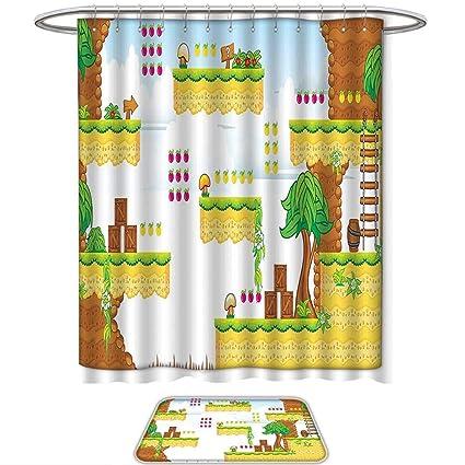 Amazon Com Qinyan Home 2 Piece Bathroom Set Video Games Cartoon