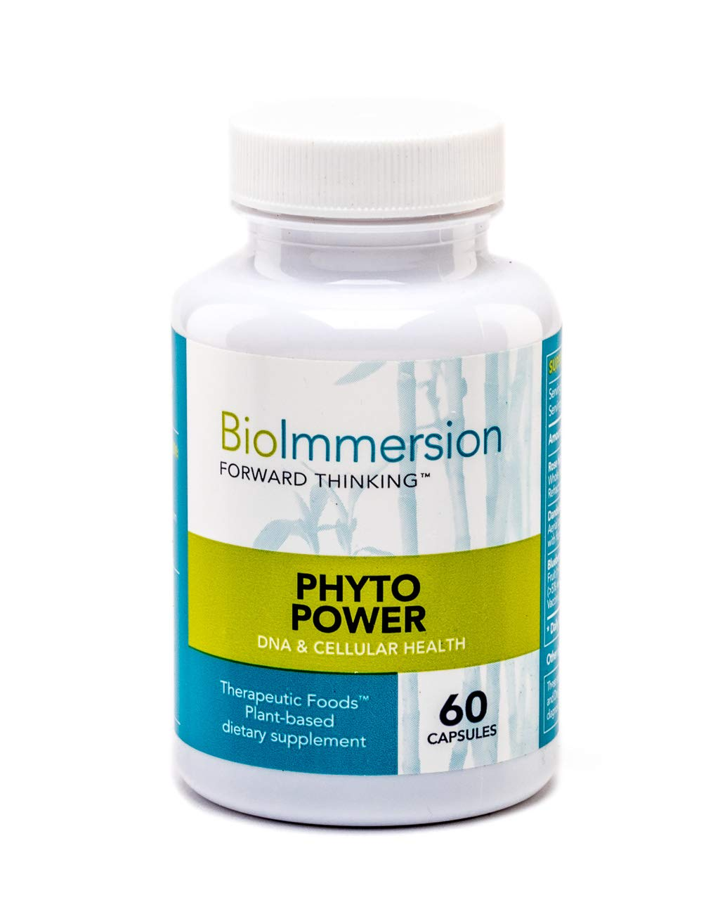 BioImmersion - Phyto Power - DNA & Cellular Integrity. Potent phytonutrients for Anti-Aging* - 60 Capsules by BioImmersion
