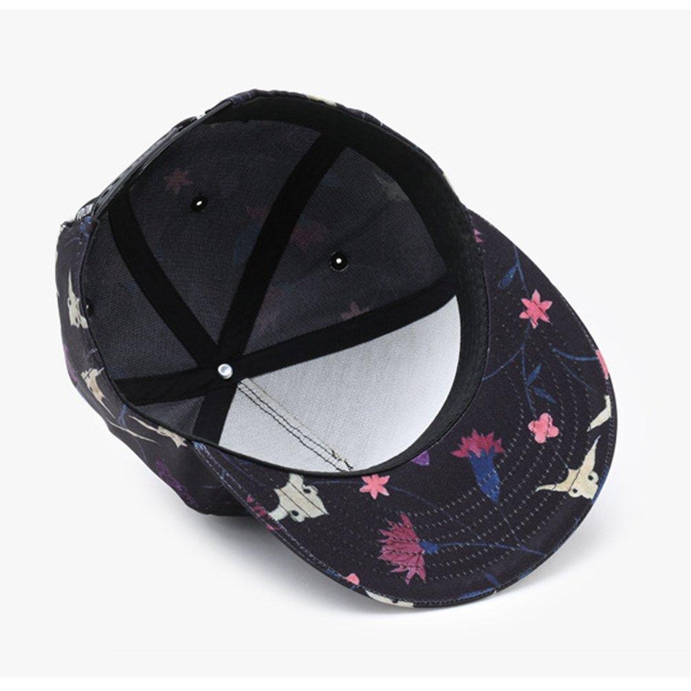 Yuanu Outdoor Ajustable Gorra De Béisbol Flores Imprimir Casual Plana  Visera Sombrero Para Hombre Y Mujer Multicolor Talla Única  Amazon.es  Ropa  y ... 5b03c120588