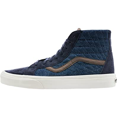 9c68520f16 Image Unavailable. Image not available for. Color  Vans Sk8 Hi Reissue DX  Pig Suede Denim Parisian Night Blue Skateboarding Shoes