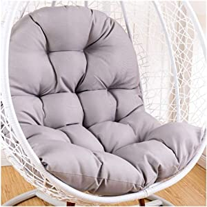 Removable Swing Chair Back Chair Cushion,Rattan Cushion Cover Without Stand Thick Egg Nest Chair Cushion Washable Hanging Hammock Cushion 915 (Color : Gray, Size : 95x125cm(37x49inch))